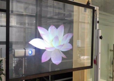 Window Glass Holographic Projection Film 81% High Contrast Light Transmission