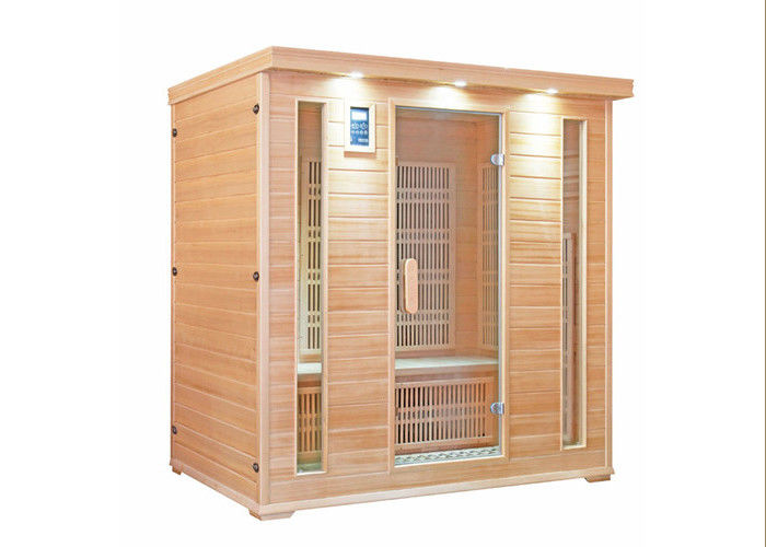 4 People Far Infrared Sauna Room Canadian Hemlock Material Carbon Heater