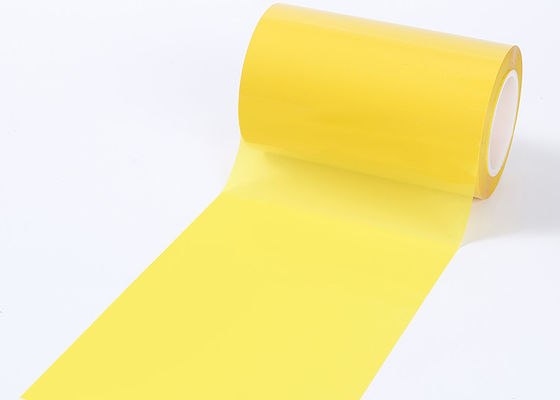 Yellow Transformer Colored Mylar Film , Tear Resistance Transparent PET Film