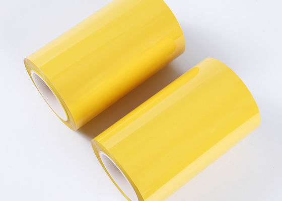 Decorative Yellow Polyester Film Roll , Anti Moisture Colored Mylar Rolls