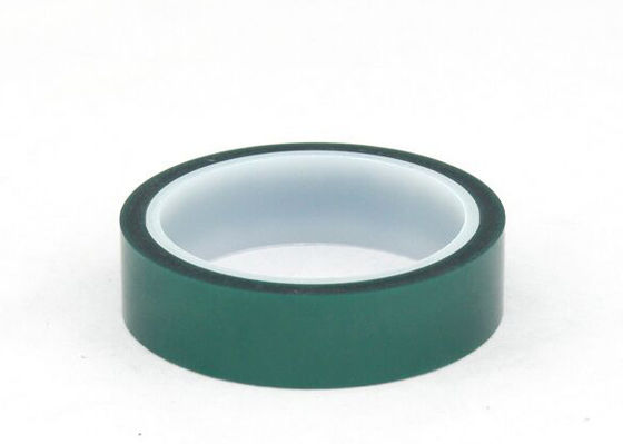 Solvent Resistant High Temp Polyester Tape , Adhesive Green Polyester Tape